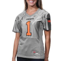 Oklahoma State Cowboys #1 Women's Replica Football Jersey