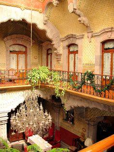 Hotel La Marquesa, Queretaro, Mexico. The place that scares me the most! Lol