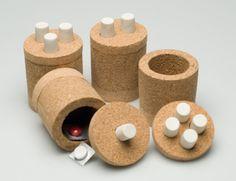 Caixas em cortiça (Cork boxes). Caixas em cortiça para comprimidos, ...