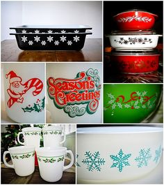 Love vintage Pyrex! I didn't know they had so many holiday themes