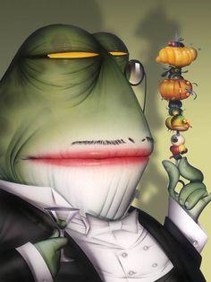 Martini Frog    by Bill Mayer
