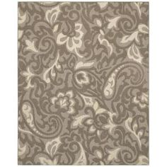 Forte 10 ft. x 13 ft. Taupe and Flesh and Ivory Area Rug-289164 at The Home Depot $257