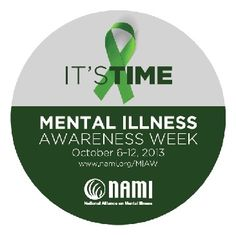 Mental Health Awareness Week ~ I'm so out of touch with the world I totally missed this. How ironic. Mental Illness Awareness Week, Mental Illness Stigma, Mental Illness Recovery, Mental Health Illnesses, Mental Health Stigma, Mental Health Facts, Mental Health Resources, Bipolar Symptoms, Depression Awareness