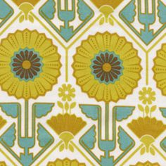 Joel Dewberry - Modern Meadow - Sunflower in Sunglow.    This is a lovely art-deco, abstract Sunflower print that I am quite taken with at the moment.  I think this could make a really cute 1960s type shift dress.