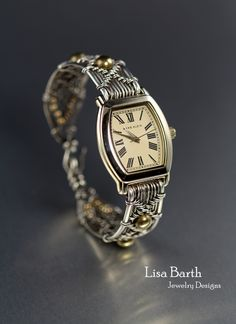 I wove a new watch band for an old watch, completely changed the look. Lisa Barth