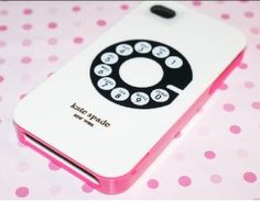 (White with Old-fashioned Telephone) Kate Spade Case