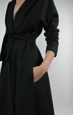 Karate wrap coat by Harvey Faircloth - absolutely timeless design!