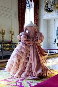 A Marie Antoinette period gown designed by Dior.