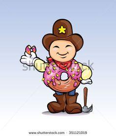 prospector donut cartoon character