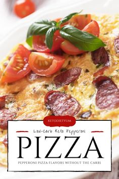 Keto Pepperoni Pizza Omelet Recipe (4g Net Carbs) Best Keto Breakfast, Breakfast Recipes, Salad Recipes, Diet Recipes, Keto Diet Guide, Pizza Flavors, Keto Meal Plan, Low Carb Diet, Pepperoni