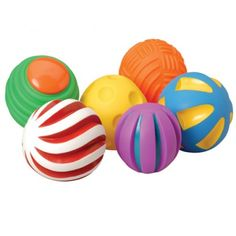 Toddler Tactile Ball- Set of 6 Constructive Playthings