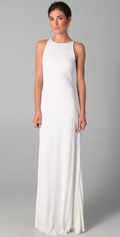 beach wedding dress...would be gorgeous with a sparkly statement necklace a la cleopatra style