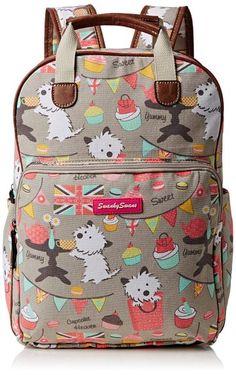 SWANKYSWANS Womens Biba Dog Cupcake Essex Backpack Handbag Grey