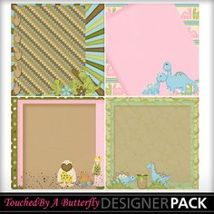 Dexters Dinosaurs stacked papers set1