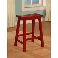Powell Furniture 286-431 Color Story Bar Stool in Crimson Red
