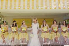 Demoiselles d'honneur en jaune