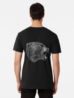 🖤 #hjorleifsonart #bear #tshirt #bearart #icelandic #artist #wildlife #artwork