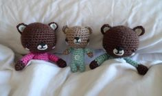 All About Ami - Free Pattern: P.J. Teddy family