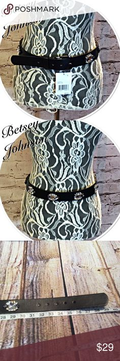 BETSEY JOHNSON BLACK JEWEL EMBELLISHED BELT Pretty black belt with stunning jewels. NWT see pic for length Betsey Johnson Accessories Belts