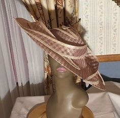 New Swan NY Tan Church Fascinator Hat Cogic Derby Easter | eBay