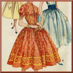 Simplicity 1591  Fifties fashion Rockabilly by PattysPastTimes