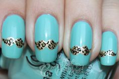 Leopard Moustaches i want to do this!