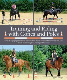 Training and Riding with Cones and Poles: Over 35 Engaging Exercises to Improve Your Horse's Focus and Response to the Aids, While Sharpening Your Timing and Accuracy (Hardcover) Dressage, Riding Hats, Riding Gear, Riding Clothes, Riding Outfits, Trail Riding, Horse Books, Types Of Horses, Riding Lessons