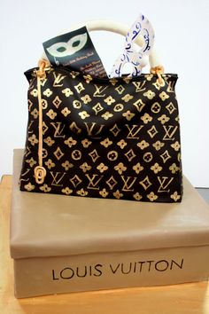Louis Vuitton shoes and purse Birthday Cakes | Birthday-Cakes-NJ---Louis-Vuitton-Purse-Custom-Cakes