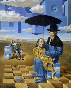 Michael Cheval  - Salvador Dalí (2016). Pintor Ruso que vive en EUA. El no se considera un pintor surrealista, pero tiene mucha influencia de Dalí y Magrite