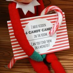 Elf on the Shelf idea....kids LOVE searching for things!