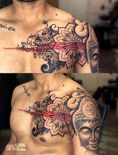Buddha Shiva Chest Tattoo