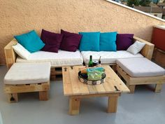 organisation salon de jardin en palette plan | Palettes recyclées ...