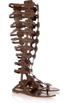 Christian Louboutin|20th Anniversary Rose Du Desert leather gladiator knee sandals|NET-A-PORTER.COM