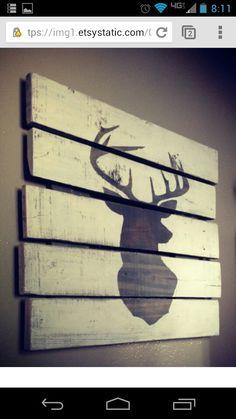 Reclaimed wood & paint                              …