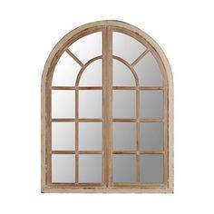 Distressed Cream Sadie Arch Mirror Arch Mirror Rustic