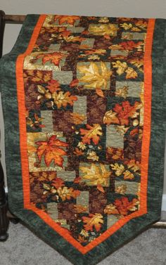 Fall quilted table runner