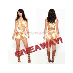 RUNWAY IMAGE GIVEAWAY!!!  We will be choosing a random lucky lady to give this two piece ensemble to. So, if you want to be a possible winner you must follow us on Twitter (@runwayimage352), Facebook (Runway Image), Pinterest (@RunwayImage & @Riboutique86). We will announce the winner later.  GO SHOP www.runwayimageboutique.com
