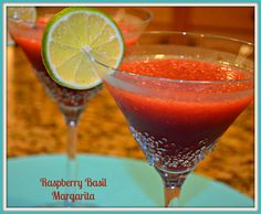 Raspberry Basil Margarita . . . not too sure about the basil in this one!