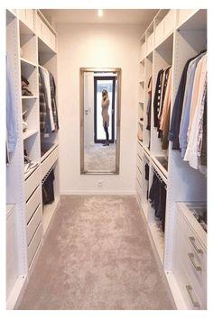 Master Closet Design, Walk In Closet Design, Master Bedroom Closet, Closet Designs, Small Walk In Closet Ideas, Walk In Closet Organization Ideas, Small Master Closet, Small Walk In Wardrobe, Small Walkin Closet