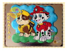 Paw Patrol Cupcakes, Paw Patrol Cake Toppers, Marshall Cake Paw Patrol, Cake Cookies, Cupcake Cakes, 4th Birthday, Birthday Parties, Paw Patrol Birthday, Cookie Decorating
