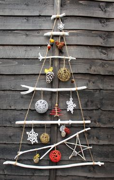 Excited to share the latest addition to my #etsy shop: Christmas hanging tree. Christmas branches hanging tree. Christmas ornament. Home decoration. Office decoration.