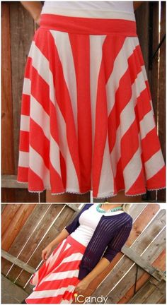 Ice Cream Social Skirt Step by Step Instructions - Top 15 Summer Ready DIY Skirts With Free Patterns and Instructions