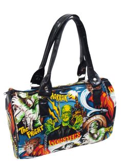 Handbag Doctor bag Satchel Style Monster Frankenstein Horror Movie Alexander Henry Fabric Cotton Bag Purse, new. $49.95, via Etsy.