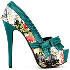 f8f51d1d7e39 SHOW STORY Multicoloured Floral Pattern Bow Peeptoe Platform Party - Pumps  - Shoes - Frequently updated comprehensive online shopping catalogs