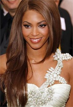 Beyonce Warm Walnut Straight long Layered Hair Color 2017 Trends