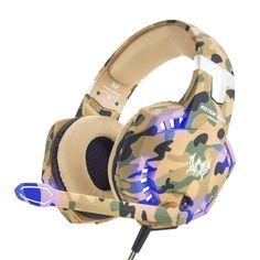 Détails Sur Ps4 Pc Gaming Headset Casque Microphone Del Lumière De
