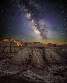 Milky Way & the Badlands of South Dakota