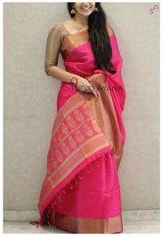 Silk Saree Blouse Designs, Saree Blouse Patterns, Dress Patterns, Indian Attire, Indian Ethnic Wear, Indian Style, Indian Dresses, Indian Outfits, Indische Sarees