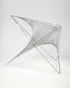 Sculptural Vortex Seating - The Parabola Chair by Carlo Aiello is Intricate and Minimalist (GALLERY)