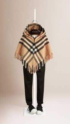 Check Wool Cashmere Cape | Burberry